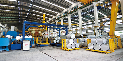 10000T extrusion line (can produce profile of section width up to 800mm)